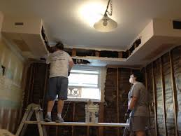 Kitchen Soffit Lighting Kitchen Soffit Removal Drywall Inside Custom Cabinets In Sheetrock