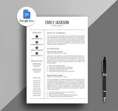 Resume Template Google Docs Resume Creative Google Docs Resume Simple Google Docs Resume Instant Download