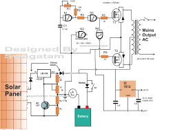 how to make a solar inverter circuit Solar Panel Circuit Diagram Schematic for complete tutorial please refer to this article solar inverter tutorial solar panel circuit diagram schematic pdf