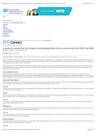 Tips For Completing Application Forms Pdf A Guide To Completing Core Surgical Training Application Forms