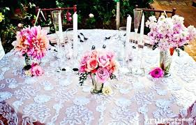 lace table overlays black round