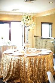 gold sequin tablecloth rose wedding 108 inch round 96