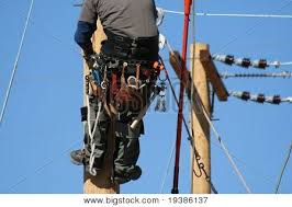 an electrical lineman apprentice working on a pole at a lineman ... via Relatably.com