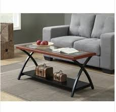 small coffee table wood glass top