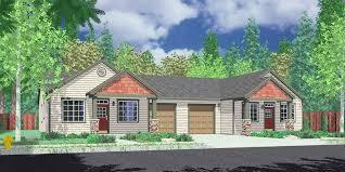 d 459 one level duplex house plans ranch duplex house plans