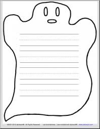 Primary Letter Writing Paper Ghost Themed Writing Paper With 3 Ruled Lines Primary I