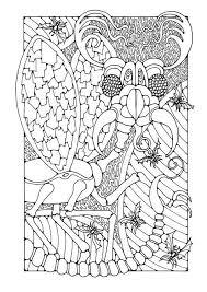 Kleurplaat Fantasie Insect Kleurplaat