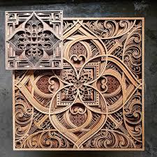Intricate Patterns Simple Mesmerizing LaserCut Wood Wall Art Feature Layers Of Intricate Patterns