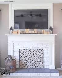 faux fireplace diy tutorial blesser house featured on remodelaholic