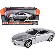 Aston Martin Db9 Coupe Silver Metallic Timeless Legends 1 24 Diecast Model Car By Motormax Target
