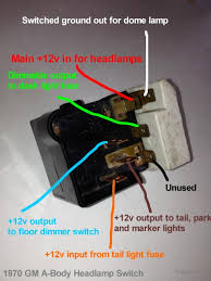 helpful headlight switch info chevelle tech the red wire provides the feed just for headlights themselves protection for the headlight output is provided by a thermal circuit breaker