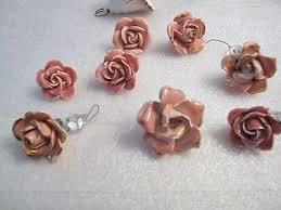 8 chandelier lamp antique vintage capodimonte porcelain ceramic rose pink roses