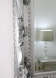 mirror 48 x 36. carved louis silver rectangle mirror chelsea platinum 48\ 48 x 36