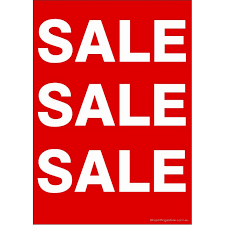 Sale Sale Sale Sign Cards Pack Card 5 Pk