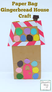 Paper Bag Gingerbread House Craft Jdaniel4s Mom Paper Bag