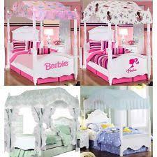 Wooden Girls Bedroom Canopy Barbie Ballerina Pricillas Sweet Dreams Bedding Canopies Ebay Girls Bed Canopy Ebay