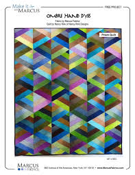 FREE PATTERN for PRISM QUILT by Nancy Rink, using Marcus Fabrics ... & FREE PATTERN for PRISM QUILT by Nancy Rink, using Marcus Fabrics