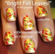 DIY Fall Leaves on Gold Nails! | Easy Autumn Nail Art Design ...