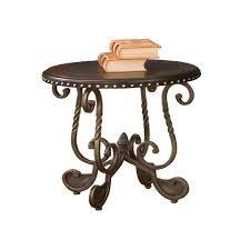 steve silver company rosemont cherry round end table
