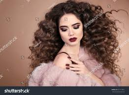 Hairstyle For Curly hairstyle curly hair beauty makeup fashion stock photo 691117837 1988 by stevesalt.us