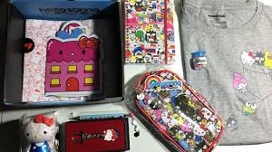 rouxaj tv o kitty sanrio small gift crate by loot crate review december 2016