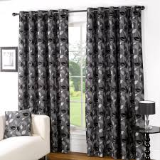 Black Patterned Curtains Magnificent Decorating Ideas