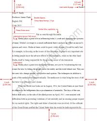 mla format for essays example co mla