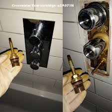 crosswater flow cartridge x2a071n needs replacement if the shower valve is leaking from the bath filler or from the shower head