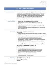 Visual Art Teacher Resume Examples Dance Teachers Resume Cover Letter