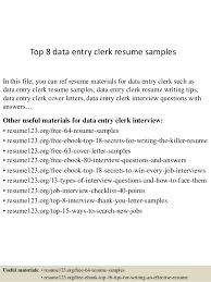 Data Entry Skills Superb Sample Resume Of Data Entry Clerk