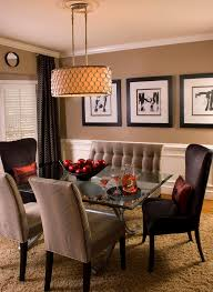 farmhouse dining room lighting dining room contemporary with brown banquette gold drum pendant gold drum pendant