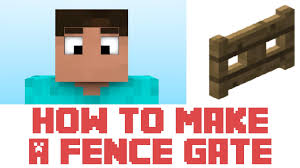 Minecraft Tutorial How To Make A Fence Gate In Minecraft YouTube