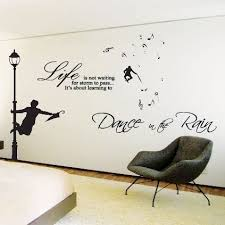 large dance in the rain wall art sticker quotes wall wall decals wall on large wall art stickers uk with large dance in the rain wall art sticker quotes wall wall decals