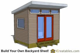 Shed office plans Modern 8x10 Office Shed Plans Icreatables Modern Shed Plans Modern Diy Office Studio Shed Designs