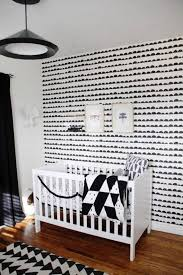 modern nursery wallpaper modern nursery ideas with white crib and wallpaper  ba modern home pictures