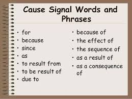 Cause And Effect Essay And Signal Words Google Search