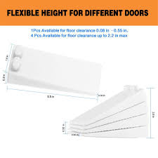 Amazon.com : Door Stop Rubber, BearMoo Flexible Door Stop Wedge 4-Pack -  Smart Stackable Slip-Resistant Design - Door Stops Work Well on All  Surfaces ...