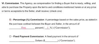 A sample agency agreement template is typical drawn between people or companies. Exclusive Right To Sell Listing Agreement Template Eforms