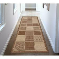 ottomanson runner rug jardin contemporary boxes outdoor brown 3 ft x 7 ft