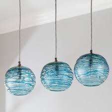 swirling glass globe mini pendant light shades of light