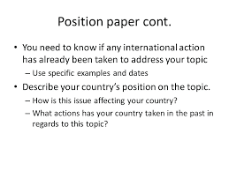 Position Essay Examples Opening Position Paper Examples Format