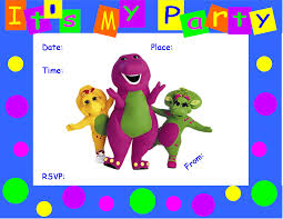 barney party invitation template barney party invitations images party invitations ideas