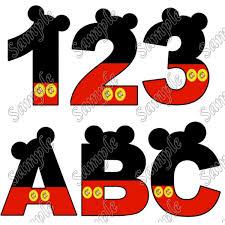 alphabet mickey iron on transfer 1