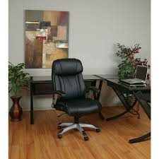 leather office. black eco leather executive office chair