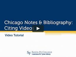 Chicago Notes Bibliography Citing Videos