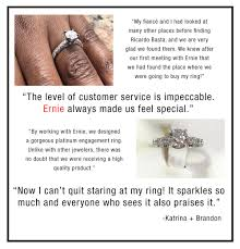 make an appointment with us to get started on your custom jewelry project or drop