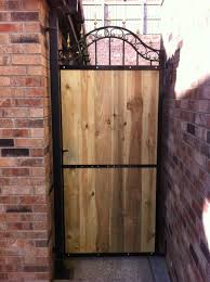 Small Picture Metal and wood garden gate Hayes Metal Craft Gates and Railings