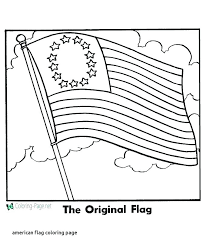 flag coloring page free pages for american toddlers