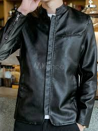 men biker jacket plus size stand collar burdy pu leather jacket canada