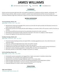 Bank Teller Resume No Experience Bank Teller Resume Cover Letter Examples Sample With No Experience 30